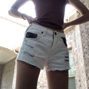 Free people white shorts